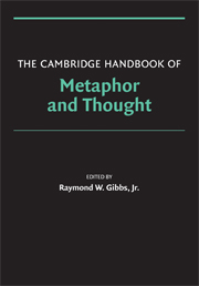 Cover of The Cambridge Handbook of Metaphor and Thought